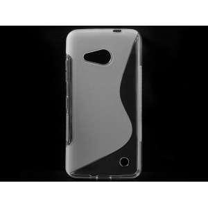 S-Line telefonvédő szilikon tok Microsoft Lumia 550 Átlátszó