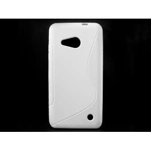 S-Line telefonvédő szilikon tok Microsoft Lumia 550 Fehér