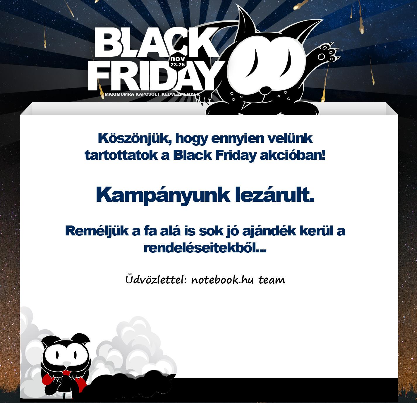 Black Friday 2018.11.22 - 25. - Notebook.hu