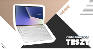 ASUS Zenbook 14 UX433FA Teszt | Notebook luxuskivitelben