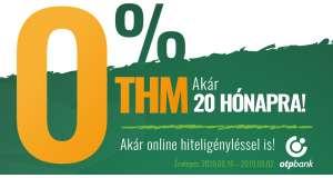 0% THM akció 20 hónapra!*