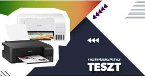 EPSON tintasugaras EcoTank nyomtatók tesztje