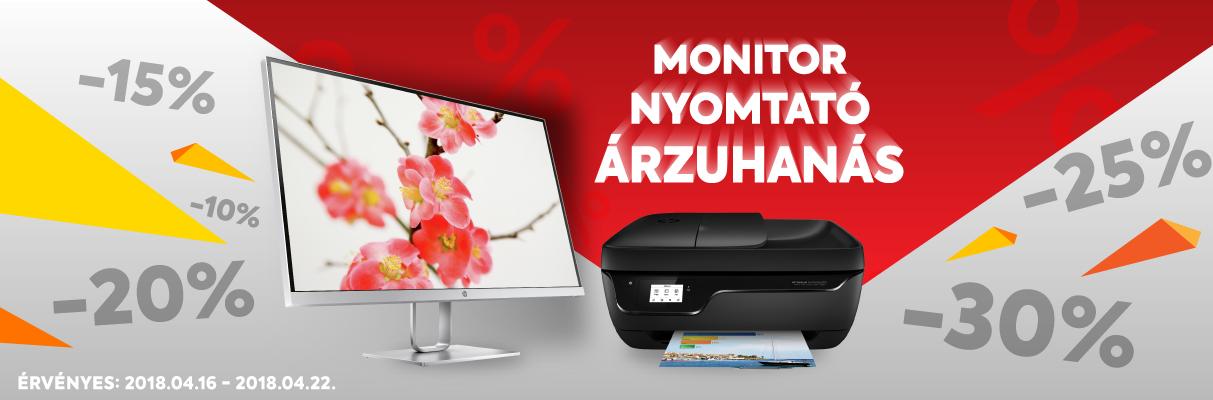 Nyomtatók és Monitorok extra kedvezménnyel!