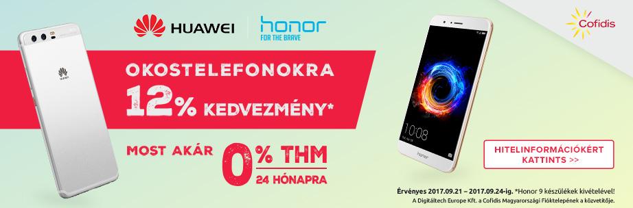 -12% Huawei és Honor Telefonokra és Tabletekre