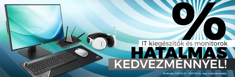 IT kiegészítők és monitorok óriási kedvezménnyel!