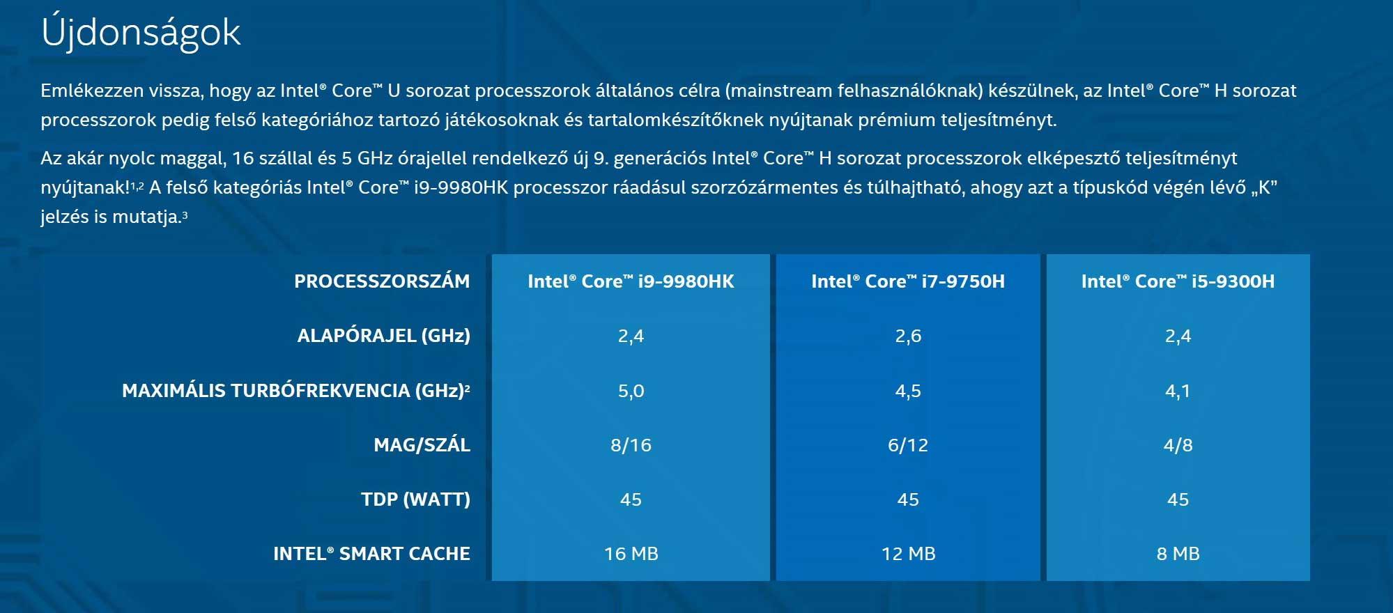 Intel 9th generáció - Mobilitás és Erő