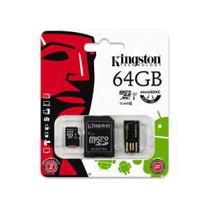 KINGSTON MicroSDHC 64GB Memóriakártya + kártyaolvasó