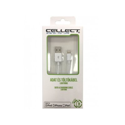 CELLECT iPhone Lightning adat/töltőkábel (MDCU-IPH-MFI1-W) fehér