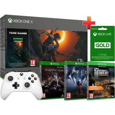 Xbox One X 1 TB Konzol Shadow of the Tomb Raider BRUTÁL csomag