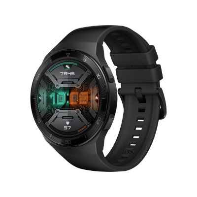 Huawei Watch GT 2e 46mm Sportóra Fekete tok, Fekete szilikonszíj