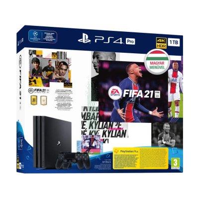 Sony PlayStation 4 Pro 1TB (PS4 Pro 1TB) + FIFA 21 + DualShock 4 Controller Játékkonzol
