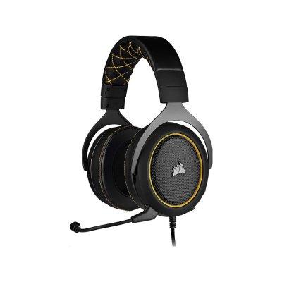 Corsair HS60 Pro 7.1 Surround Gaming Mikrofonos Fejhallgató (CA-9011214-EU) Sárga