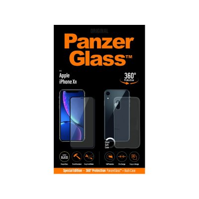 PanzerGlass Apple iPhone XR üvegfólia és szilikon tok (5711724226410) fekete