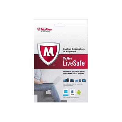 McAfee LiveSafe vírusvédelmi OEM szoftver (1 év)