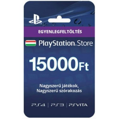 PlayStation Network Feltöltőkártya 15000 Ft (PSN DIGITÁLIS)