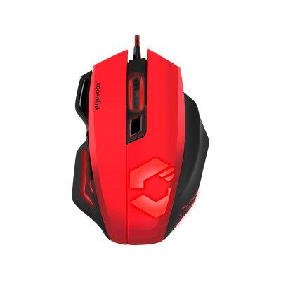 Speedlink (SL-680005-BKRD) DECUS RESPEC Gaming Vezetékes Egér Fekete-Piros