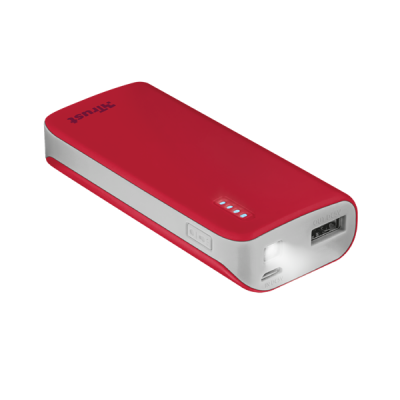 TRUST Primo Power Bank 4400mAh (21226) piros