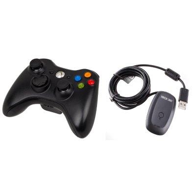 Xbox 360 Vezeték Nélküli Kontroller Fekete (Xbox 360 + Windows ... 7177ae5ff8