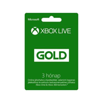 Xbox Live Gold 3 hónapos előfizetés