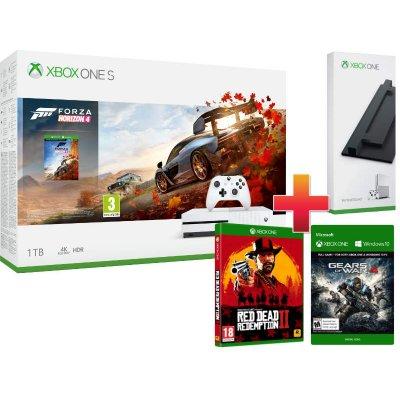 Xbox One S 1TB Konzol Forza Horizon 4 csomag + Red Dead Redemption 2