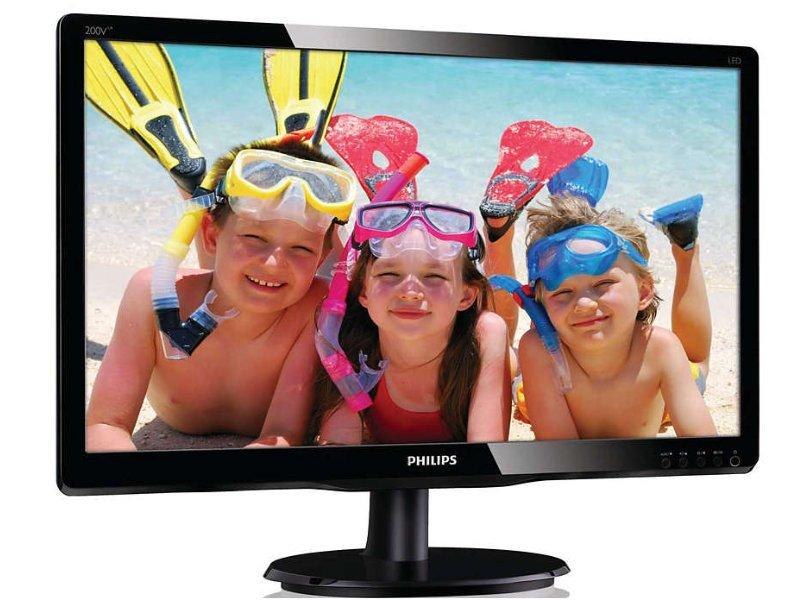 "Philips 200V 19,5"" HD+ monitor (200V4LAB2/00) fekete"