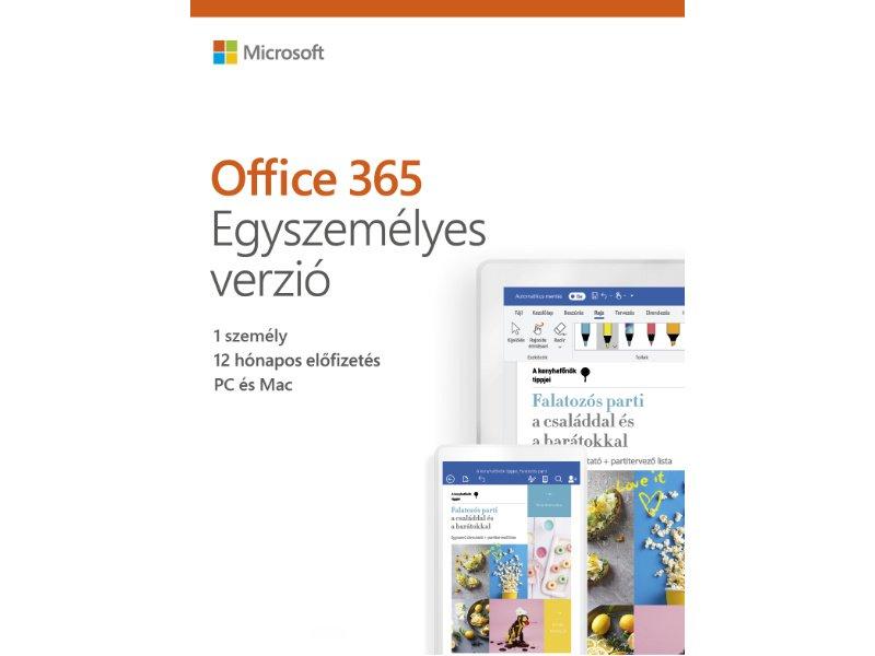 Microsoft OFFICE 365 Egyszemélyes verzió