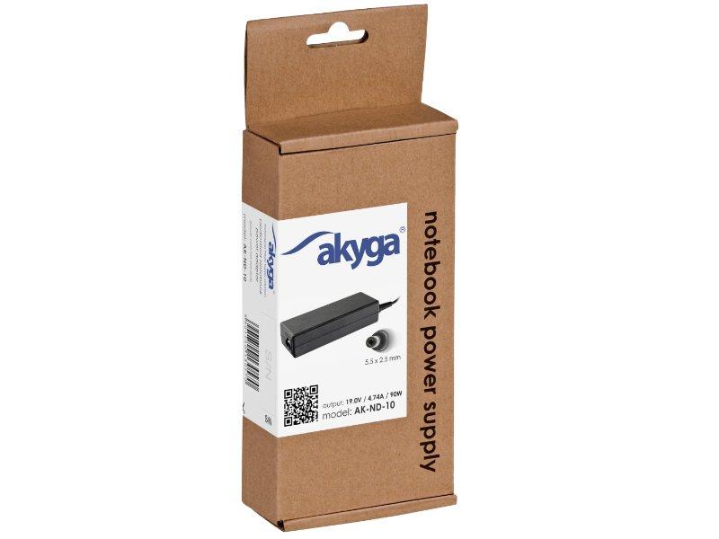AKYGA 90W-os adapter (AK-ND-10) Asus/Toshiba notebookhoz