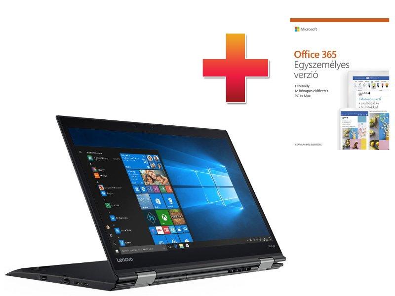 LENOVO ThinkPad X1 Yoga (2. gen) (20JD002EHV) Fekete