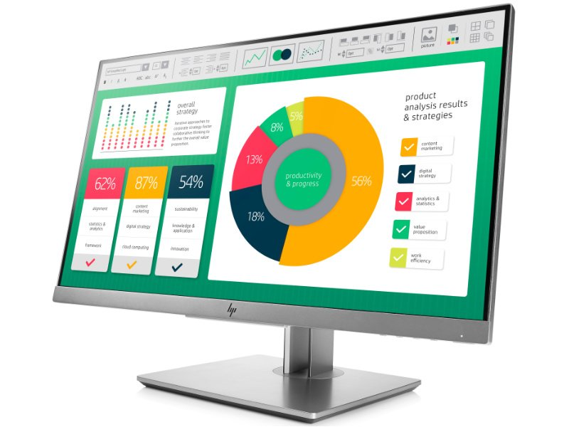 "HP EliteDisplay E223 21.5"" monitor (1FH45AA) ezüst"