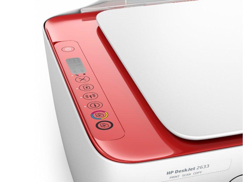 HP Deskjet 2633 Tintasugaras nyomtató (V1N06B) bordó
