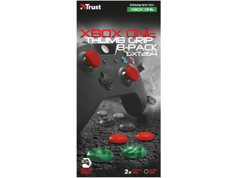 TRUST GXT264 Xbox One Játékvezérlő Csúszásgátló gumi borítás (20815) piros, fekete, szürke, zöld