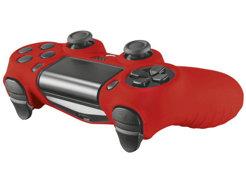 TRUST GXT744R PS4 Játékvezérlő Gumi borítás (21214) piros