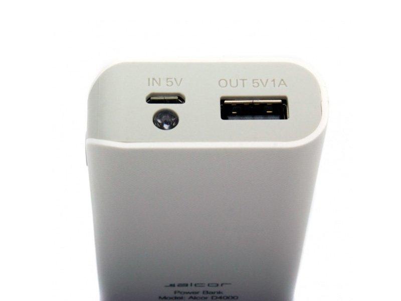 ALCOR Powerbank D4000 4000mAh fehér