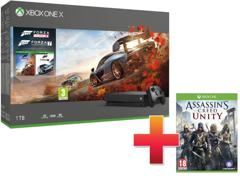 Xbox One X 1TB Konzol Forza Horizon 4 + Forza Motorsport 7 csomag