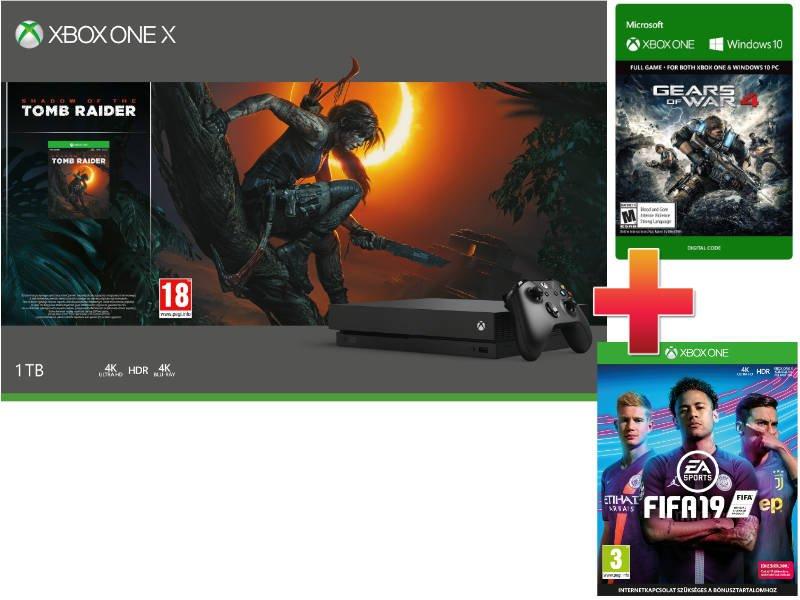 Xbox One X 1TB Konzol Forza Horizon 4 + Forza Motorsport 7 csomag + Fifa 19