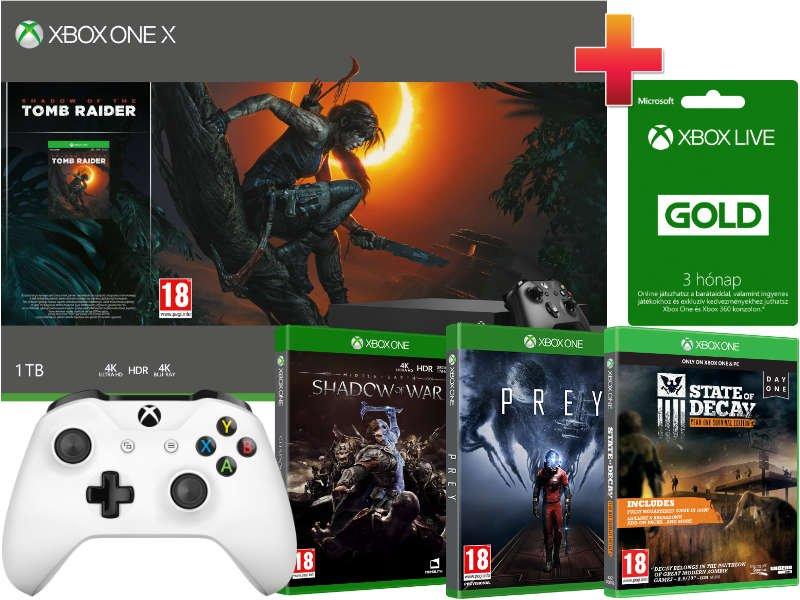 Xbox One X 1 TB Konzol Tomb Raider BRUTÁL csomag