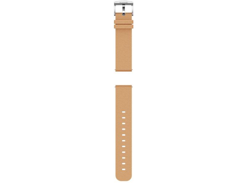 Huawei Watch GT 2 Sport sportóra, 42mm, ezüst tok, barack bőr szíj