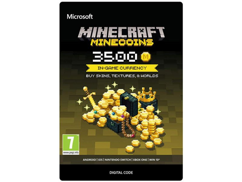 Minecraft Virtuális fizető eszköz 3500 Coins (Letölthető)