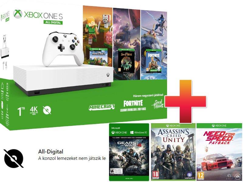 Xbox One S 1TB All-Digital Edition Családi Csomag (6 játékkal)