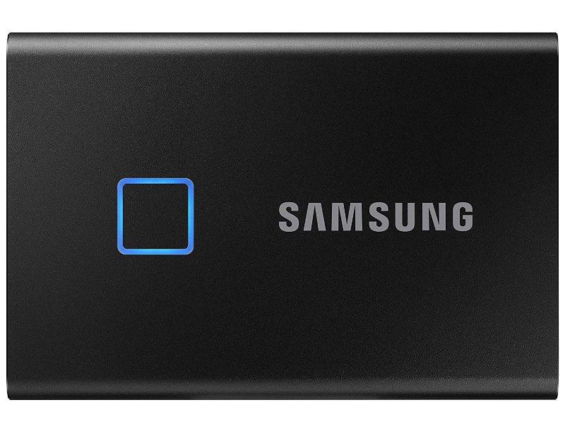 SAMSUNG Hordozható SSD T7 Touch, 1TB (MU-PC1T0K/WW) Fekete