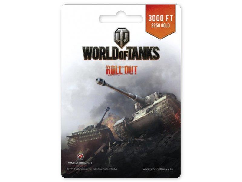 Wargaming World of Tanks 2250 Gold Egyenleg Feltöltőkártya (PC) DIGITÁLIS