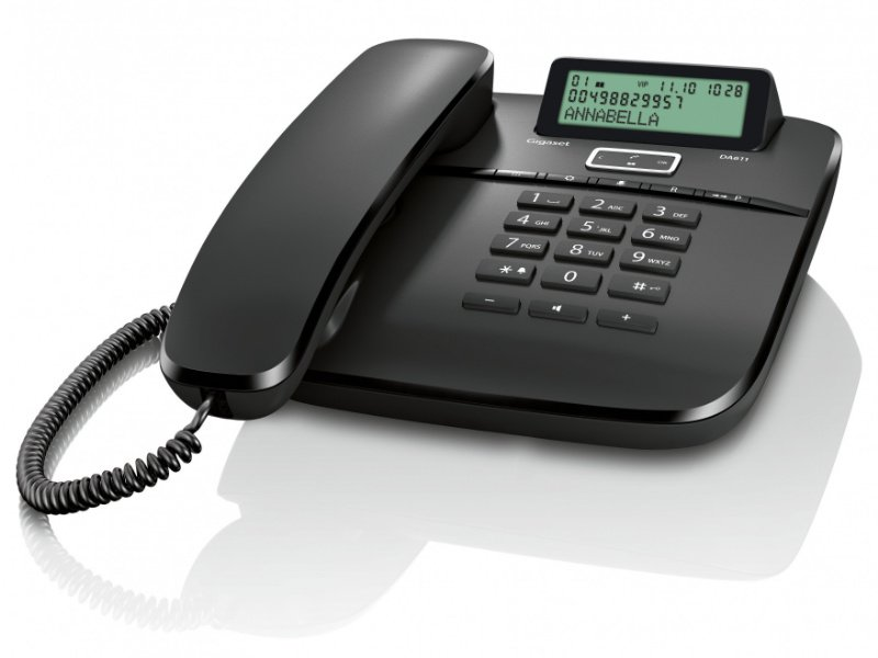 GIGASET DA611 vezetékes telefon, fekete