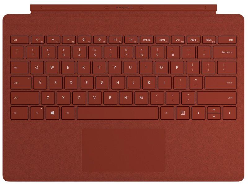 Microsoft Surface Pro Type Cover - magyarosított (FFQ-00103) Mák piros