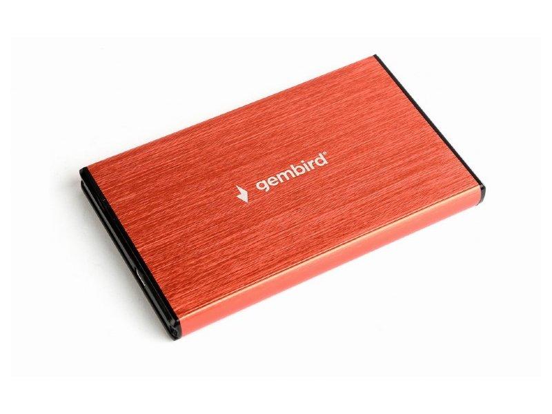 """Gembird 2,5"""" Külső HDD/SSD Ház USB 3.0 (EE2-U3S-3-R) Vörös"""