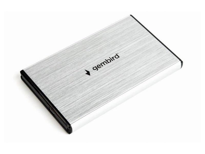 """Gembird 2,5"""" Külső HDD/SSD Ház USB 3.0 (EE2-U3S-3-S) Ezüst"""