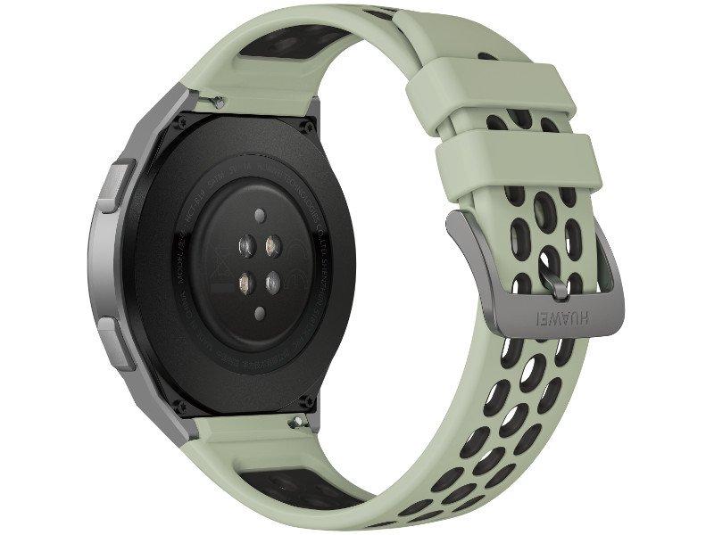 Huawei Watch GT 2e 46mm Sportóra Ezüst tok, Mentazöld szilikonszíj