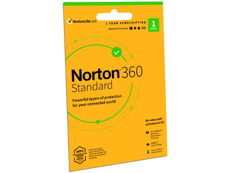 Norton 360 Standard Vírusirtó 10 GB 1 Eszköz 1 Év ESD (21416707)