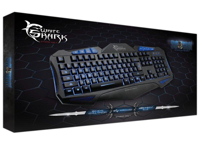 White Shark SHOGUN Gamer billentyűzet (GK-1621BL) - Angol kiosztású
