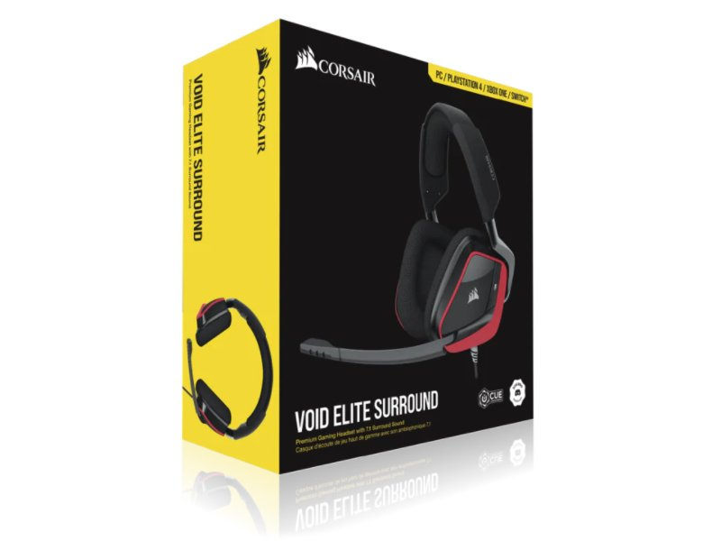 CORSAIR VOID ELITE SURROUND Premium Gaming Headset (CA-9011206-EU) Cherry