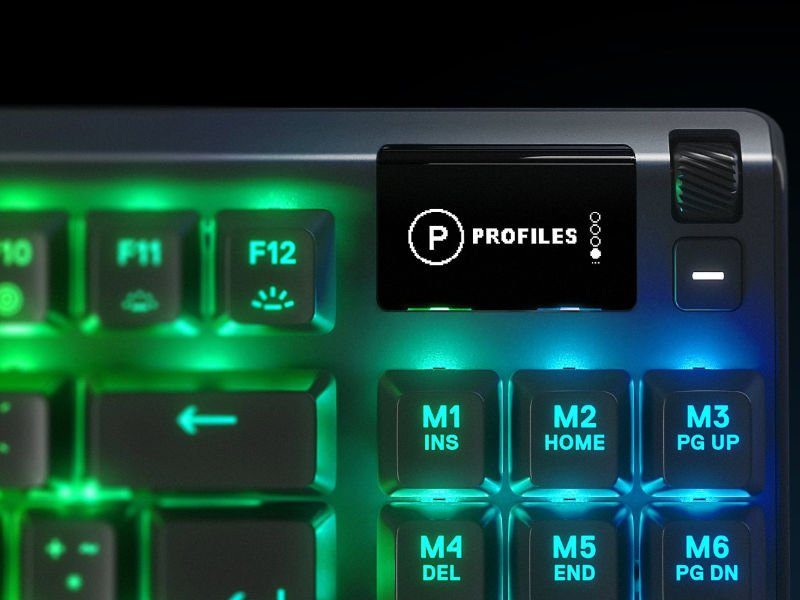 SteelSeries Apex 7 TKL USB Angol Gaming Billentyűzet Blue Switch (64760) Fekete